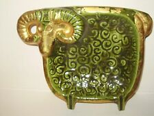 LARGE MID CENURY MODERN RAM ASHTRY OR TRAY!
