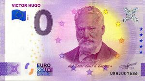 37 DESCARTES Victor Hugo, 2020, Billet Euro Souvenir