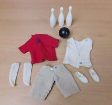 Vintage Pedigree 1966 Sindy Bowling Outfit With Bowling Ball And Skittles 12S16