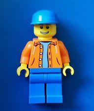 Lego City Minifigure Orange hood jacket sweater torso Town operator