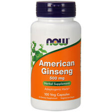 Ginseng Américain, 500 MG X 100 Capsules - Now Foods