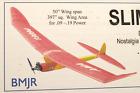 """""""SLIM ZEEK"""", Laser Cut, Free Flight Kit, W/S 50"""" .09-.19 Power"""