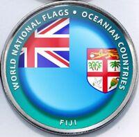Fiji - Bougainville Island 1 Dollar 2017 UNC Flag unusual coinage