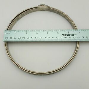 "Antique Vintage Adjusto Metal & Cork Lined 7"" Round Embroidery Hoop"