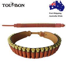 Tourbon 20ga Shotgun Cartridge Belt Ammo Holder Waist Sling Real Leather AU Post