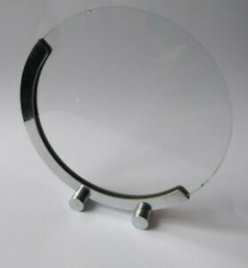 ORIGINAL ART DECO CIRCULAR CHROME PHOTO FRAME