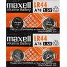 4 Pcs Maxell LR44 Button Cell Watch Battery 1.5V, AG13, L1154, A76, SR44, 357