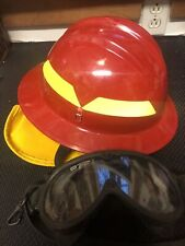 Bullard Fh5100P Wildfire Series Fire Helmet, Ultem(R) Shell, Red With Googles