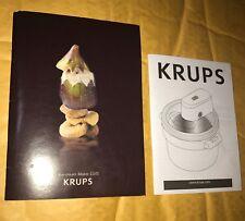 Krups Manual For Ice Cream Maker & GVS Sorbet/Ice Cream Recipe Book
