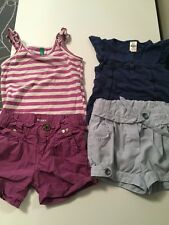 DIESEL, ZARA 7 BENETTON Toddler Girl Tops And Shorts 12-18 Months