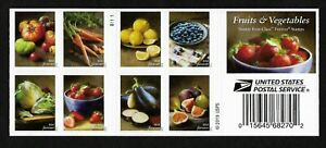 #5483-5493   Fruits & Vegetables (forever) 2020 Issue - MNH Booklet Pane of 20