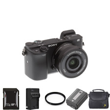 Sony Alpha a6300 Mirrorless Camera w/16-50mm Lens + 2 Batteries, 64GB & More