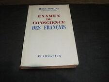 Jules ROMAINS: Examen de conscience des français
