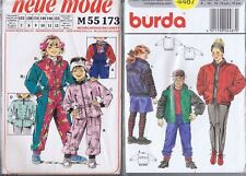 Lot 2 Burda Sewing Patterns Children Ski Suit Jacket Pants Size 7 8 10 12 14 16