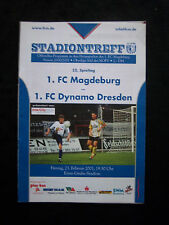 Orig.PRG   Oberliga Süd  2000/01  1.FC MAGDEBURG - 1.FC DYNAMO DRESDEN  !!