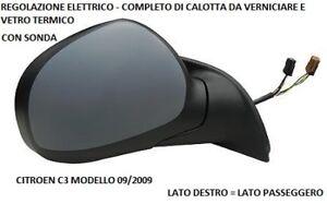 SPECCHIO RETROVISORE CITROEN C3 MODELLO 2009 ELETTRICO TERM VERN DESTRO 800623