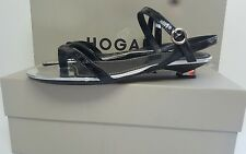 BNWB HOGAN nero/argento kitty. Sandalo Tacco Scarpe. UK 4/37 £ 179