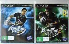 Rugby League Live and Rugby League Live 2 PS3 Sony PlayStation 3