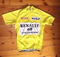Brand New Team Renault Elf Gitane Yellow Jersey Cycling jersey Record