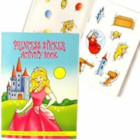 A6 Princess Sticker Activity Books - Colouring Stickers Party Bag Fillers Travel