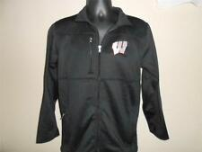 New-Flawed Wisconsin Badgers Youth Large Zip Front Black Jacket