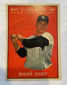 1961 Topps Roger Maris MVP #478 Baseball Card