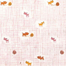 """WINDHAM """"TIGER LILY"""" KITTENS AND YARN Pink by yard"""