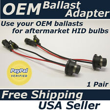 2 D2S D2R to Amp connector adapter OEM HID ballsts to aftermarket HID bulbs