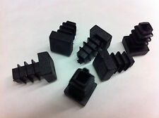 1 x 10mm Black Plastic Blanking End Cap Caps Square Tube Pipe Inserts Bungs
