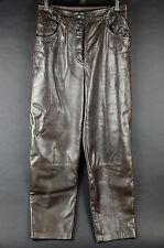 Women's Escada Brown Leather Pants Chocolate Espresso Margaretha Ley 42 Germany