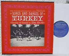 Turkey chansons and tendances Folkways LP Turquie