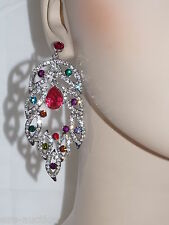 MULTICOLOR CRYSTAL DANGLE EARRING