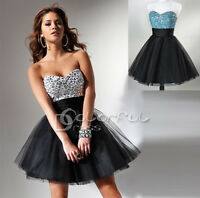 Sequined Short Tulle Homecoming/Cocktail Dress/Prom/Ball/Evening/SZ 6/8/10/12/14