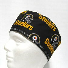 Pittsburgh Steelers Mens Scrub Hat, Skull Surgical Cap, Chemo Hat