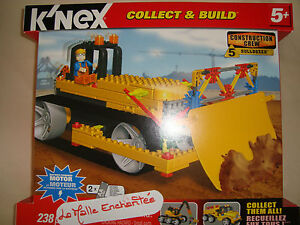 K'Nex Subject Construction Truck Bulldozer Box 238 Pièces Of 5 Years New