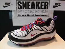 Nike Air Max 98 - BV4872 102 - White / Univ Red - Black - Youth: 6 / Womens: 7.5