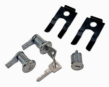 NEW 1965 - 1966 Ford Mustang Lock set doors & Ignition Matched set, Keys, Clips