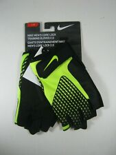 Nike Mens Core Lock Training Gloves 2.0 Half Finger Sz Large Black Volt New NIP