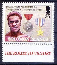 Jacob C. Vouza, George & Silver star Medal, World War II, Solomon 2005 MNH -Ws16