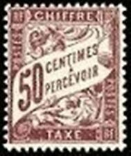 """FRANCE STAMP TIMBRE TAXE N° 37 """" TYPE DUVAL 50c LILAS """" NEUF xx TTB"""