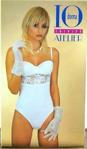 Body Intimo Donna IO DONNA SA008 Bianco Bianco-Panna Tg 2 3 4