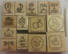 Stampin' Up! Year Round Cheer and Figures of Speech Rubber Stamps Baby Love Leaf