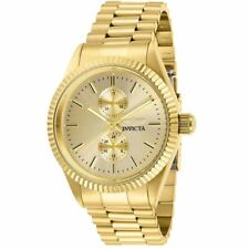 Invicta Men's Watch Specialty Quartz Champagne Dial Yellow Gold Bracelet 29431