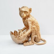 33cm Gold Monkey Bowl Dish Ornament Indoor Figurine Statue Home Decor