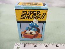 Super Smurf Figure box Vintage Toy Schleich Row Boat pond swim lake pond dude
