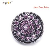 Multi Styles Rhinestone Snap Charms 18mm Snap Button For 20mm Snap Jewelry DIY