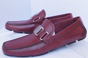 New Salvatore Ferragamo Men's Shoes Sardegna Size 11 E Drivers Loafers