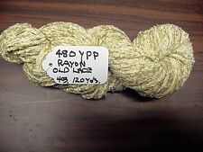 RAYON Chenille Yarn 480 YPP 1 Skein, 4 oz.120 Yards Color Old Lace