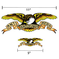 "Anti Hero Eagle Logo Sticker Skateboard Decal 5"" or 11"" Available Eagle Harley"
