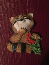 Raccoon Wall Plaque 1977 Homco Vintage Wall Art Collectible